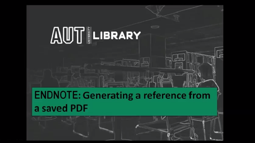 thumbnail for Generating a reference from a saved PDF