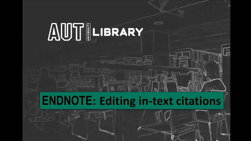 thumbnail for Editing In-Text Citations video