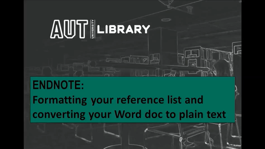 thumbnail for Formatting Your Reference List and Converting Your Word Doc to Plain Text video