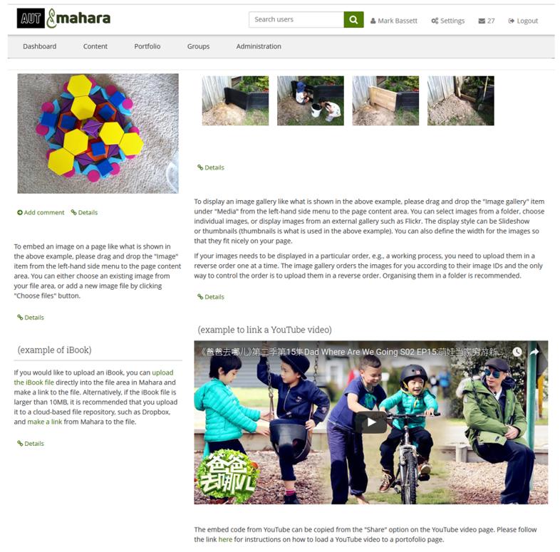 Learning technologies - Mahara