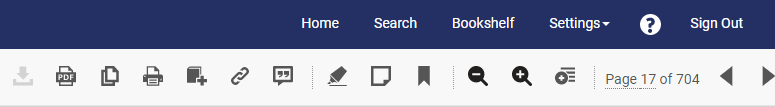 Image of chapter pdf icon in menu
