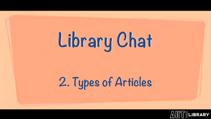 thumbnail for Types of Articles video