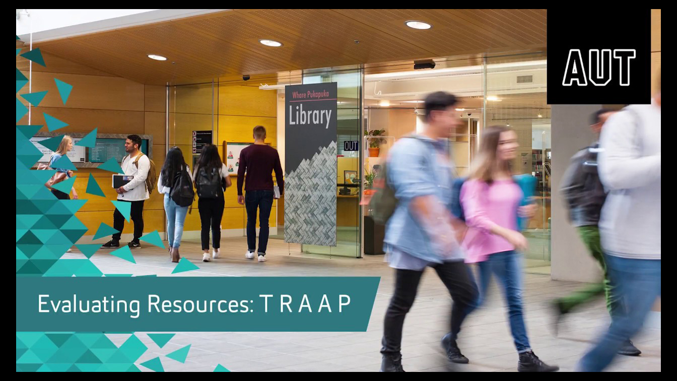 thumbnail for Evaluating Resources using TRAAP video